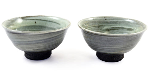 Zen Minded Hakame No Yunomi Handcrafted Japanese Tea Cup Pair