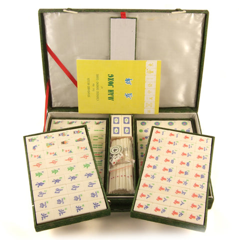 Zen Minded Chinese Mahjong Set With Bamboo & Bone Tiles Large