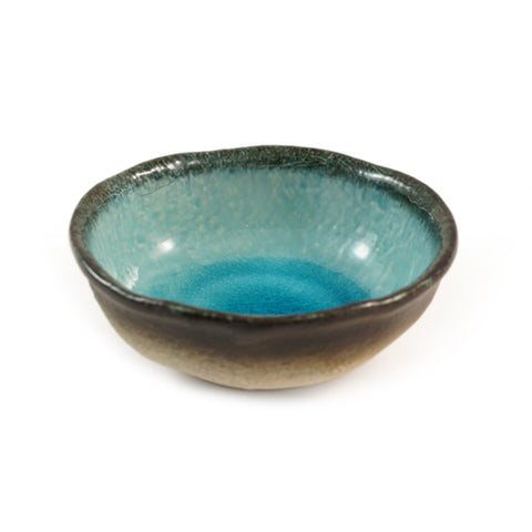 Zen Minded Blue Crackleglaze Ceramic Dish