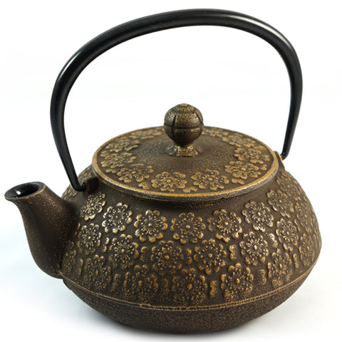 Iwachu Iwachu Cast Iron Teapot With Sakura Blossom Pattern In Gold