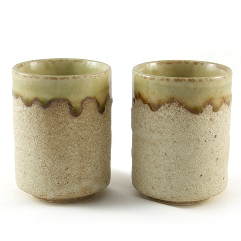 Zen Minded Sand Glaze Ceramic Tea & Coffee Cup Pair