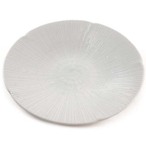 Zen Minded Ceramic Dinner Plate With White Shell Pattern