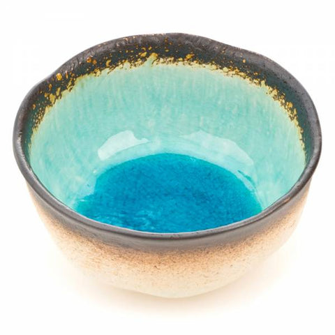Zen Minded Blue Crackleglaze Ceramic Bowl