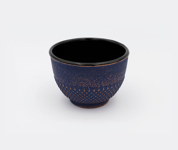 Zen Minded Cast Iron Teacup Purple & Gold