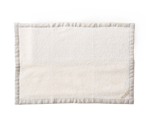 Fog Linen Linen Massage Bath Mat White