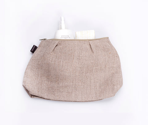 Fog Linen Shire Pouch Natural