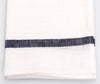 Fog Linen Kitchen Cloth White Navy Stripe 2