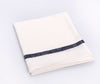 Fog Linen Kitchen Cloth White Navy Stripe 3