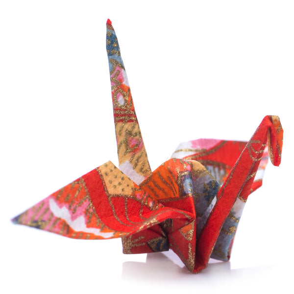 Zen Minded Red Japanese Origami Cranes Pack Of 10