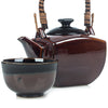 Zen Minded Japanese Tea Pot Set Ame Glaze 2
