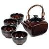 Zen Minded Japanese Tea Pot Set Ame Glaze 4