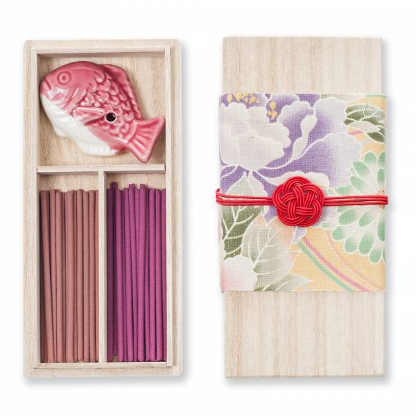 Kousaido Plum Flower Organic Japanese Incense Stick Gift Set With Holder