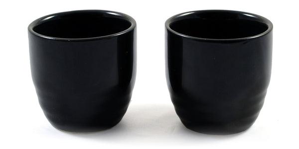 Zen Minded Black Japanese Sake Shot Cup Pair