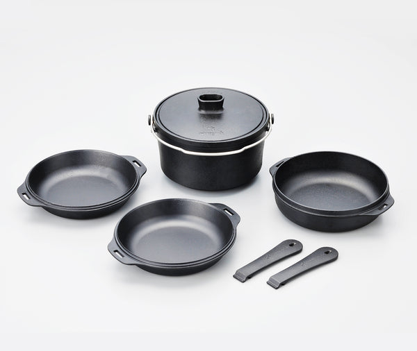 Snow Peak Cast Iron Duo Pot Set