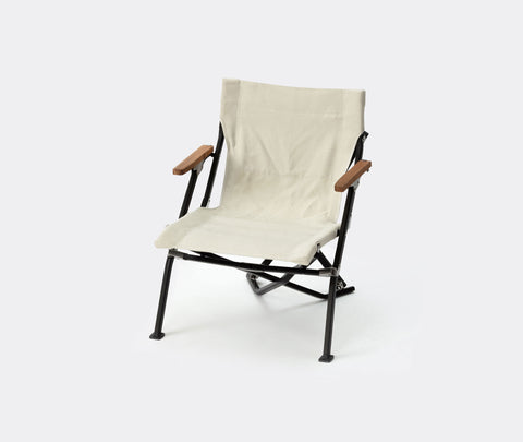 Snow Peak Luxury Low Beach Chair Ivory