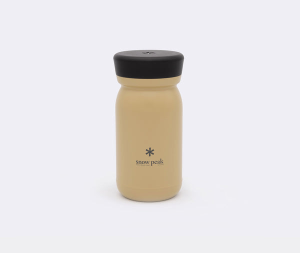Snow Peak Stainless Vacuum Bottle Milk 350 Sand
