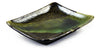 Zen Minded Iridescent Green Glazed Oblong Japanese Ceramic Plate Small 2
