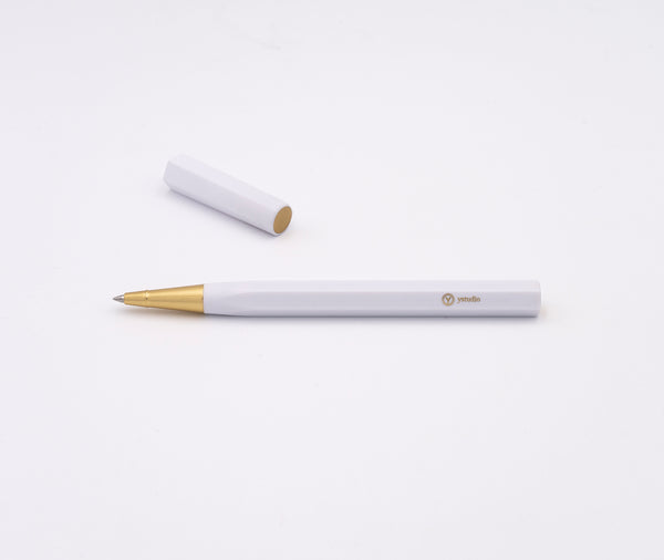 Ystudio Resin Rollerball Pen White