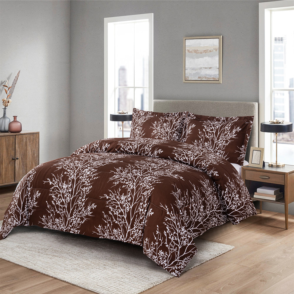 Shatex Embroidery Comforter Sets– Ultra Soft 100% Microfiber Polyester