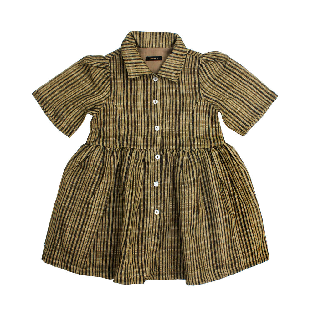 Sweven girls' stripe dress - rabbit in the moon