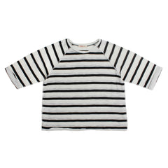 Sweven kids' top - bold stripe - rabbit in the moon