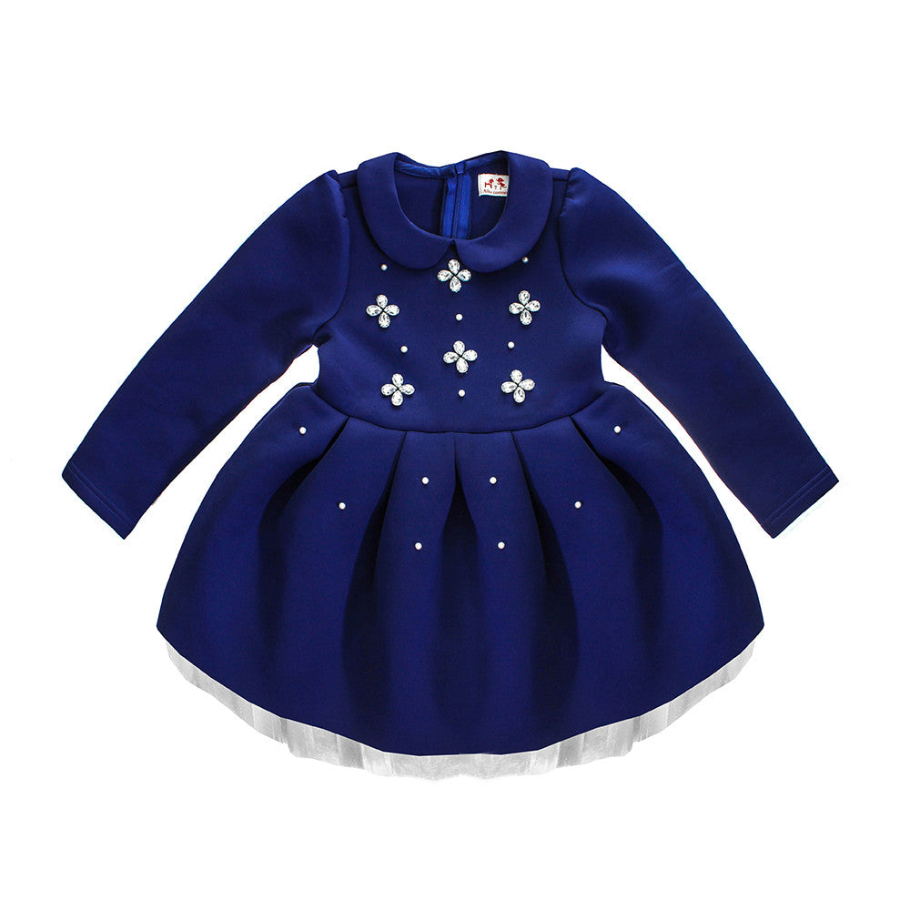 Allo Cotton Girls' Jewelled Dress | rabbit in the moon