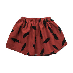ae-hem girls' feather print skirt | rabbit in the moon