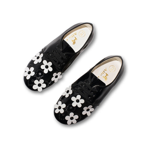 Allo Cotton Patent Daisy Brogues