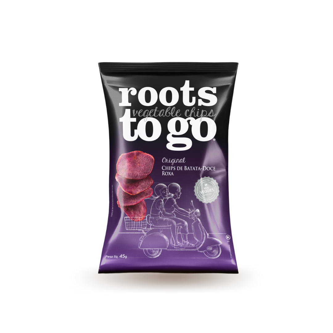 Chips de Batata-Doce Roxa Roots To Go 45g