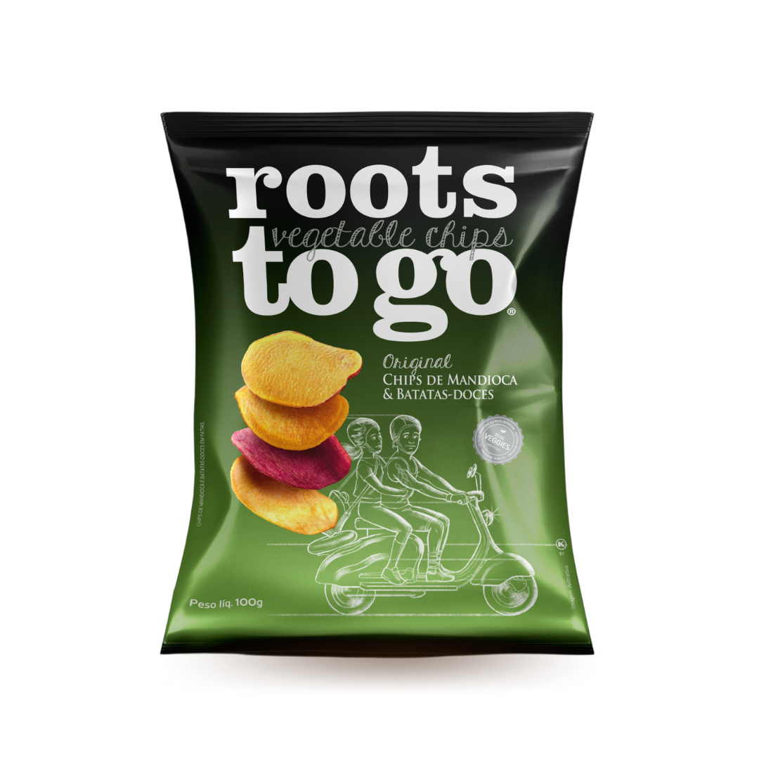 Chips de Mandioca e Batata-Doce Roots To Go 100g