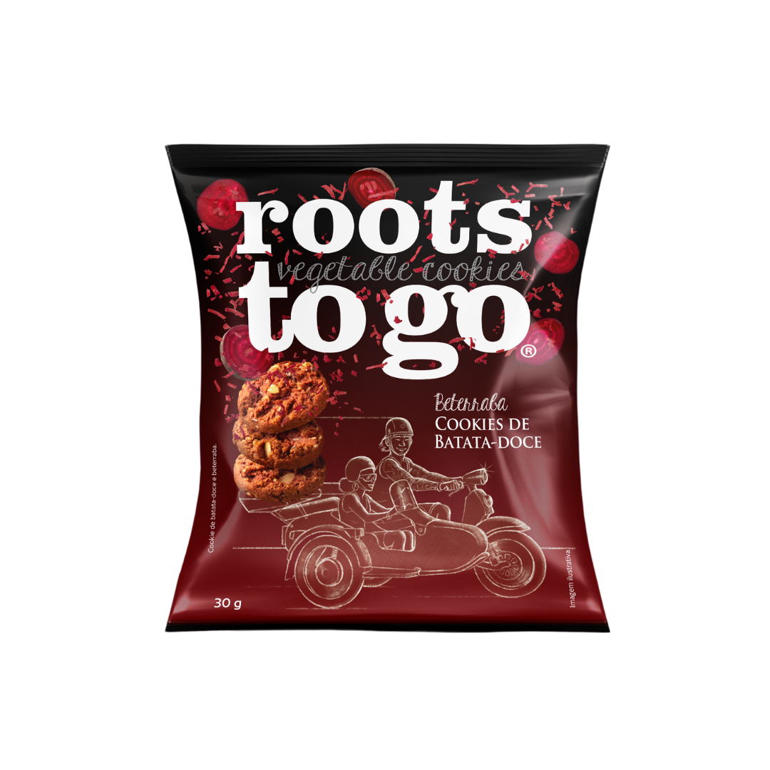 Cookies Batata-Doce e Beterraba Roots To Go 30g
