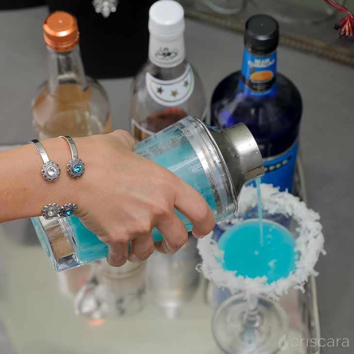 The Snowball Martini Recipe and Bracelet Stack by Criscara