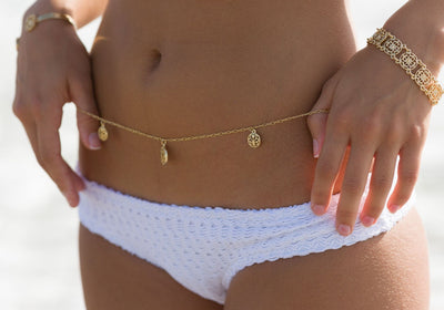 WANDERLUST Gold Belly Chain | Modern boho jewelry | Criscara
