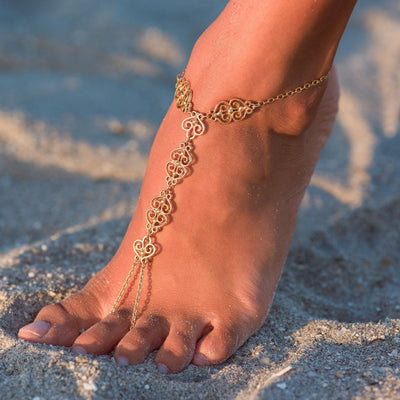 CASABLANCA Anklet - Gold | Modern boho jewelry | Criscara