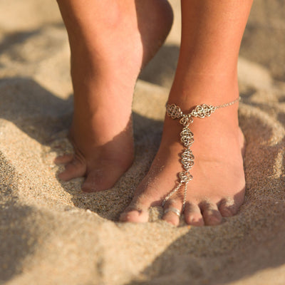 CASABLANCA Anklet - Silver | Modern boho jewelry | Criscara