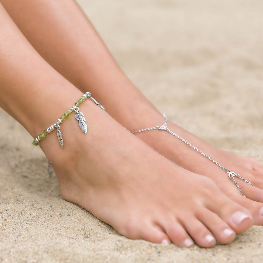 SAMPLE: WILD HEART Feather Anklet