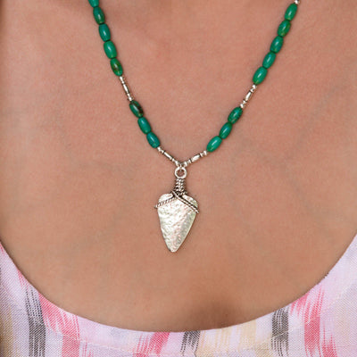 BANDIT Pendant Necklace - Green Turquoise