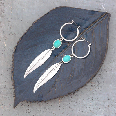 ABBEY Leaf Hoops