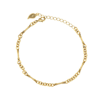 Ankle Bracelet in 14k gold finish | Modern boho jewelry | Criscara
