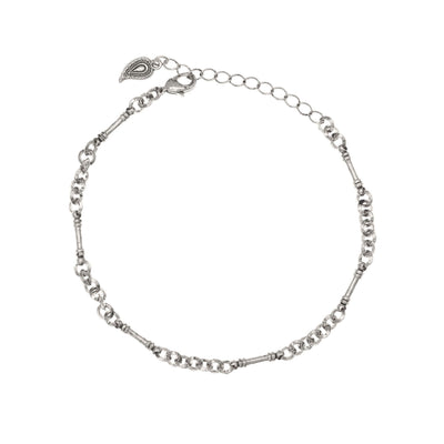 Ankle Bracelet in silver finish | Modern boho jewelry | Criscara