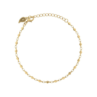 Boho Chic Anklet in 14k gold finish | Modern boho jewelry | Criscara