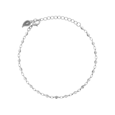 Boho Chic Anklet in silver finish | Modern boho jewelry | Criscara