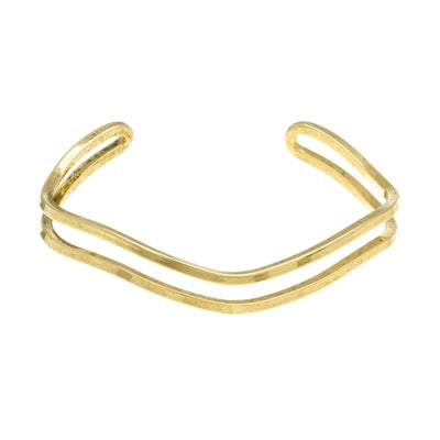 Open Split Cuff Bracelet in 14k gold finish | Modern boho jewelry | Criscara