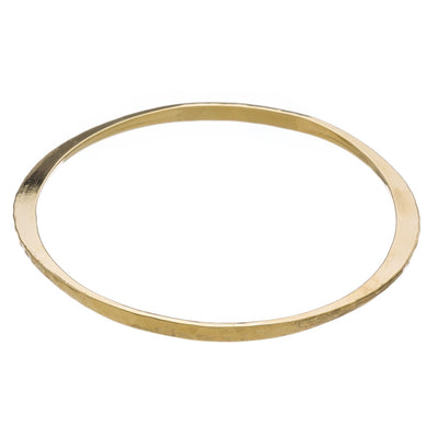Hammered Upper Arm Bangle in 14k gold finish | Modern boho jewelry | Criscara