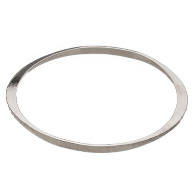 Hammered Upper Arm Bangle in silver finish | Modern boho jewelry | Criscara