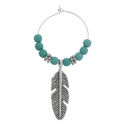 FEATHER Turquoise Hair Charms