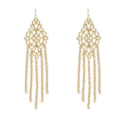 HARLOW Fringe Earrings - Gold | Modern boho jewelry | Criscara