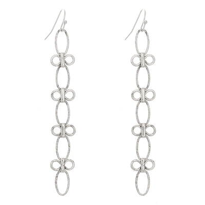 Long Lightweight Earrings in silver finish | Modern boho jewelry | Criscara