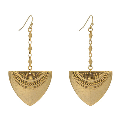 Bolo Shield Earrings in 14k gold finish | Modern boho jewelry | Criscara
