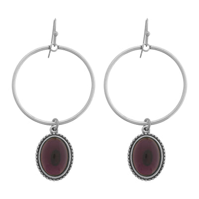 EM Hoop Drop Earrings
